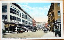 1920 Pawtucket, Rhode Island Postcard: Main Street/Pool/Billard Hall - RI