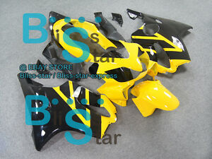 Yellow Glossy INJECTION Fairing Fit HONDA CBR600F4i 2005 2006 2004-2007 23 A5