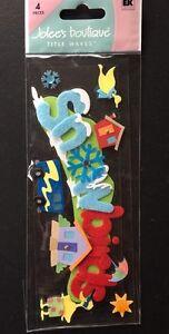 """Jolee's Boutique """"Snowbirds"""" Title Wave Dimensional Stickers"""