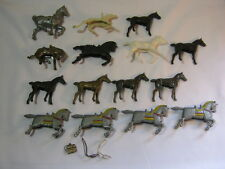 Lot of 15 Vintage Plastic Toy MIsc Horses Cowboy and Knights Holland   T*