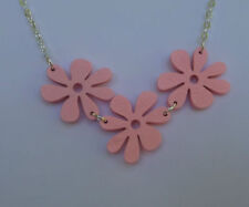 Silver flower Bib Costume Necklaces & Pendants