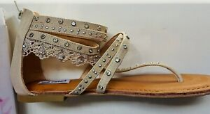 Not Rated William Cream Gladiator Sandals Size 9.5 NEW With Box $60