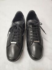 Ermenegildo Zegna US 11, UK 10 Black Calfskin leather Sneakers, Dress Shoes $895