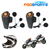 2x BT-S2 Motorrad Headset Bluetooth Intercom Fahrrad Gegensprechanlage FM Radio
