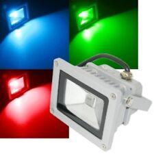 10W LED Fluter BLAU o. ROT IP65 230V Fluchtlicht Strahler Außen-Leuchte Garten