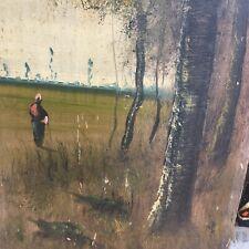 Belle Paire De Peinture Sur Panneau Huile HSP École Barbizon XIX Forêt