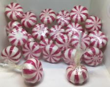 50 STRAWBERRY POM POM LOLLIES RETRO ROCK CANDY SWEET BUFFET ROCK PARTY LOLLYPOP