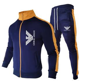 Tuta da jogging Uomo Tuta sportiva Abbigliamento sportivo Felpa Pantaloni nuovo