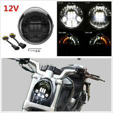 12V 70W LED Turn Signal DRL Light Headlight For Harley VRSCA Vrod VRSCSE 02-17