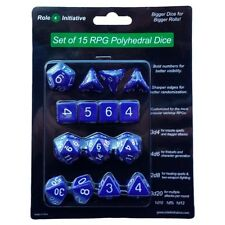 Polyhedral: Opaque Dark Blue/White (15)