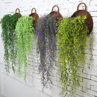 Artificial Fake Silk Flower Vine Hanging Garland Plant Garden Wedding Decoration