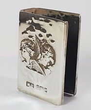 Antique Sterling Silver Reynolds Angels Cherubs Matchbox Cover 1902