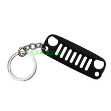 (1) Black Angry Bird Front Bumper Grill Shape Key Chain Ring Keychain For Jeep