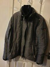 NUOVA linea donna Superdry Pop Zip Hood Premium Arctic nero fumo scuro giacca grande 1