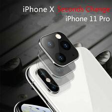 Metallschutz für iPhone X XS MAX Änderung an 11 Pro Fake Camera Cover Case