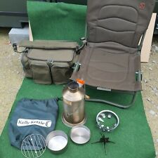 trakker barrow Large Hold-all Fishing Tackle Bag With Chair & Kelly Kettle Set