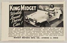 1956 Print Ad King Midget Cars & Junior Midget Motors Mfg Athens,Ohio