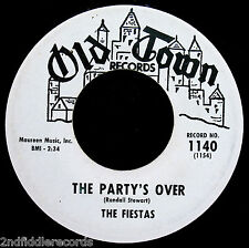 THE FIESTAS-The Party's Over-Doo Wop-Northern Soul Vocal Promo 45-OLD TOWN #1140