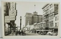 Spokane Washington RPPC Street Scene c1940s Real Photo Postcard O20