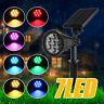 7 LED Farbwechsel Solar Garten Lamp Scheinwerfer Outdoor Solarleuchte Außenlampe