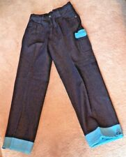 New Pair of Men's Size 32 Bare Fox Platinum Jeans w Rubber Blue Cuffs & Pockets