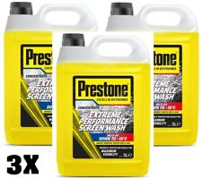 3x Prestone Extreme Performance Concentrated Screenwash Winter Melts Ice 5 Litre