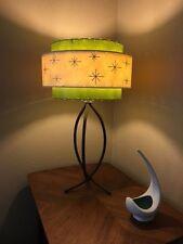 Mid Century Vintage Style 3 Tier Fiberglass Lamp Shade Starburst Atomic  OL/IV