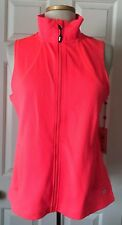 $79 NWT Womens Tommy Hilfiger Sport Active Full Zip Mesh Vest Jacket Neon Pink M