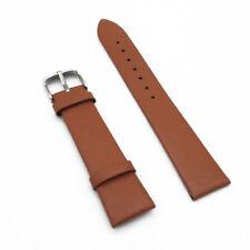 Hot Women Men Smooth Grain Genuine Leather Watch Strap Watch Band Belts 12-22mm