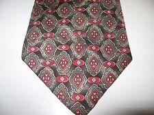 57 x 4 Black Red Gray SILK Tie Necktie BUCKINGHAM  ~ Free US Ship (8442)