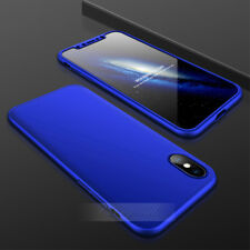 For iPhone XR XS Max Creative Armor 360°Full Slim Hard+Tempered Glass 3in1 Case