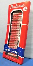 Vintage 10¢ Shoe Laces ~ Store Display Box Full ~ 1950's