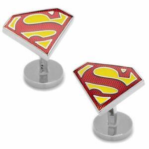 Superman Shield Cufflinks, licensed by DC Comics.