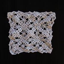Napperon carré coton linge table fait main crochet vintage art nouveau France