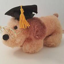 "Dan Dee Puppy Dog Weiner Graduation Graduate Glasses Top Dog Talking 8"" Brown"