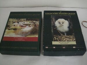 2 X WENTWORTH WOODEN PUZZLES BARN OWL & THE GOWER HERITAGE CENTRE