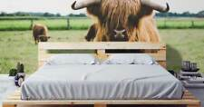 Original wall deco Mural sticker CUSTOM bedroom inspiration highland cow animal