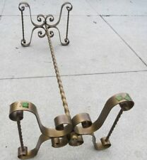 New listing Vintage Hollywood Regency Mid-Century Gilt Iron Coffee Cocktail Table (no glass) 00006000
