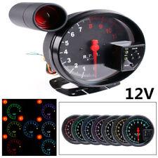 1X 12V Car RPM 11000K Tachometer Gauge Works With 4/6/8 Cylinder Engine Vehicles