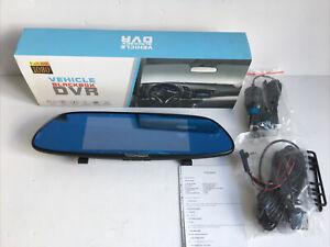 Vehicle Blackbox DVR HD 1080p Rear View Mirror Dash Cam USB BU