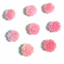 1 PC Natural Queen Conch Shell Rose Flower 10mm - NEW DIY Bead Design Wholesale