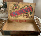ANTIQUE+The+Windham+WOOD+CIGAR+TOBACCO+BOX+CHRISTMAS+Willimantic+CT