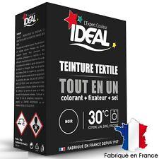 KIT TEINTURE TISSU IDEAL TOUT EN 1 NOIR colorant + fixateur + sel