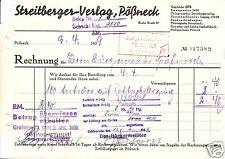 Rechnung, Streitberger-Verlag, Pößneck, 9.4.39