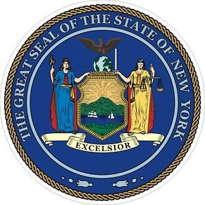New York State Seal Decals / Stickers