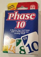 Mattel Phase 10 Card Game Rummy Type Card Game w/ Challenging & Exciting Twist