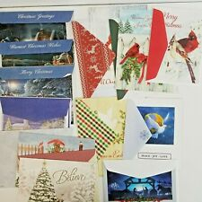 Lot of 50 Unused Christmas Cards Unsigned w/ Envelopes Craft Scrapbook Lot 3