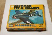 Vintage Retro Revell 24 Gruman F6F3 Hellcat Boxed 1:144 Scale Model