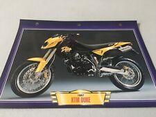 028 KTM 600 Duke 1997 Fiche collection ATLAS motos de légende