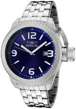 New Invicta 0988 Corduba Swiss Blue Dial Stainless Steel Watch